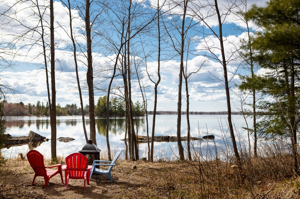 Picnic spot on the lake. April 2015.