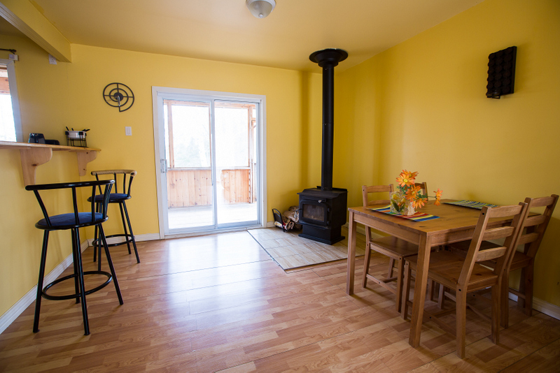 Comfortable contemporary interior in the cottages.