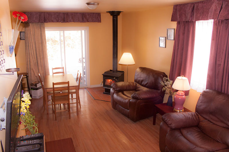 Living room in the cottage.