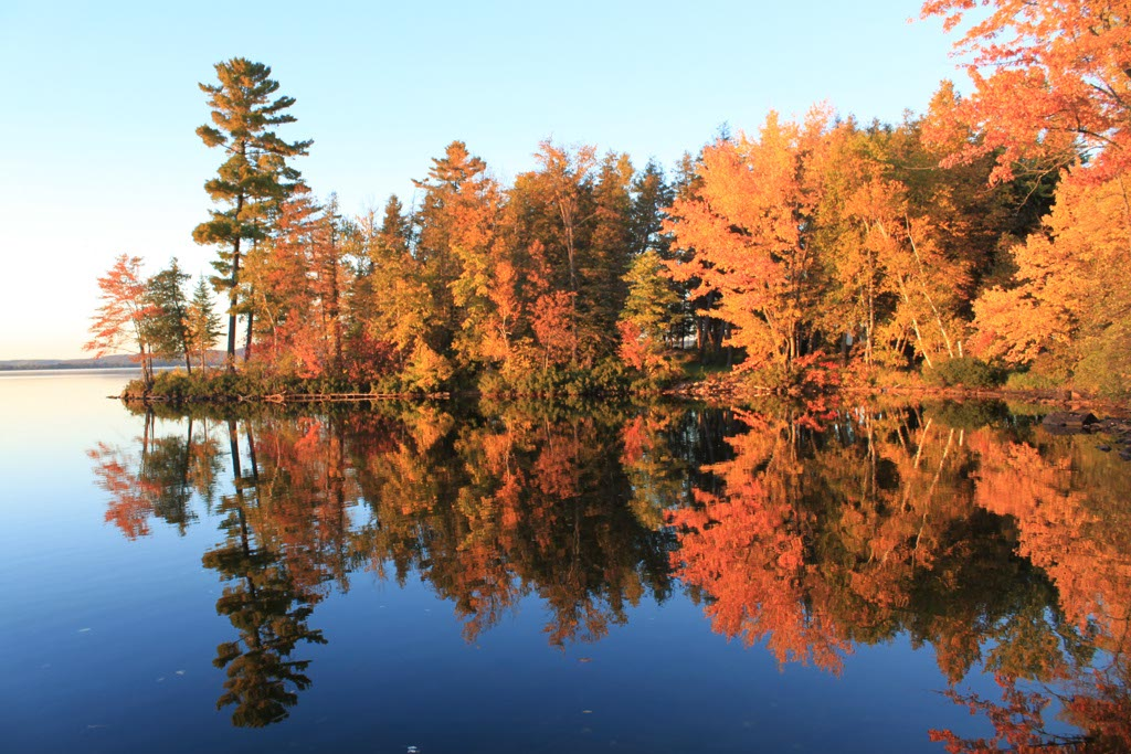 Our peninsula in the fall.