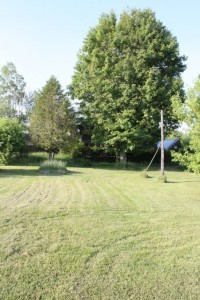 Lakeside residential home for sale. Back yard.
