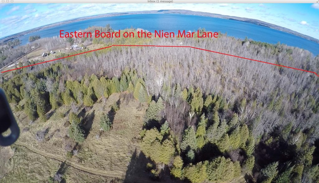 Ariel view to East of Tourist-Commercial Land.