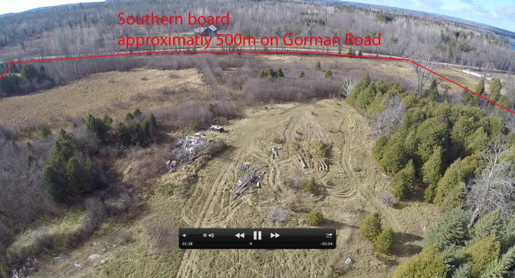 Ariel view to South of Tourist-Commercial Land.