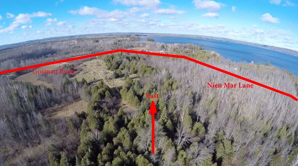Ariel view to North-West of Tourist-Commercial Land.
